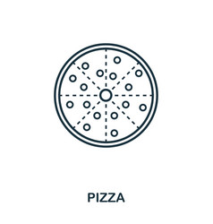 simple outline pizza icon pixel perfect linear vector image
