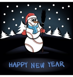 Snowman of baseball vector