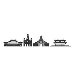 south korea vector image
