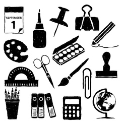 Stationery doodle images vector