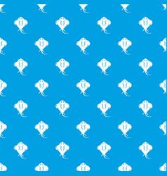 stingray pattern seamless blue vector image