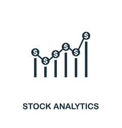 stock analytics icon creative element design from vector image