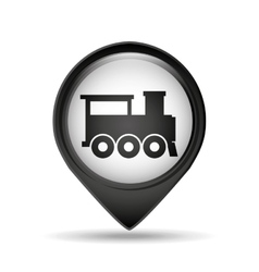 symbol train traditional icon vector image