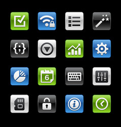 system settings interface glossy buttons gelbox vector image