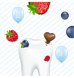 Tooth And Chewing Gum vector