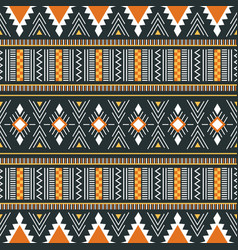 Tribal ornament seamless african pattern vector