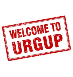Urgup red square grunge welcome isolated stamp vector