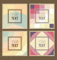Vintage creative cards hipster textures retro vector