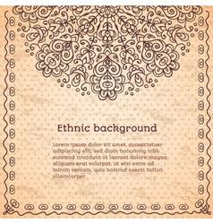 Vintage ethnic background vector image