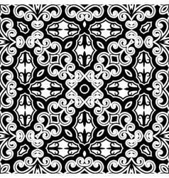 Vintage monochrome pattern vector image