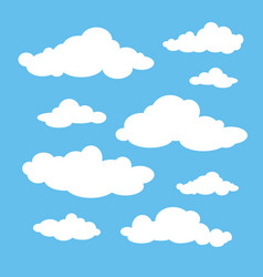 white clouds set vector image