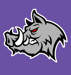 Wild pig logo vector