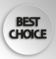 best choice sticker price tag vector image
