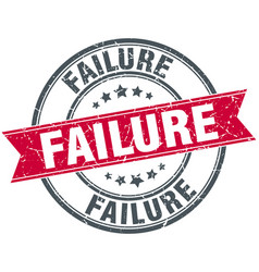 failure round grunge ribbon stamp vector image vector image