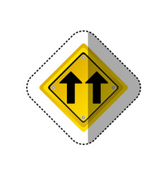 Sticker metallic realistic yellow diamond shape vector