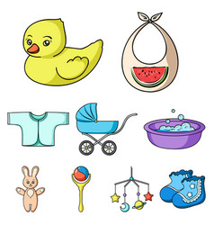 baby born set icons in cartoon style big vector image vector image