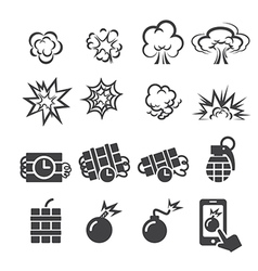 blast icon set vector image