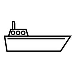 navigate boat icon vector image vector image