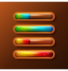 Set of progress bars with liquid filling vector image