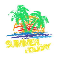 summer holiday brush vector image vector image