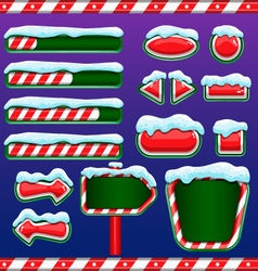 Christmas user interface for mobile or computer vector image vector image