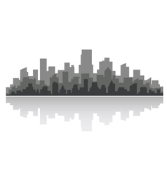 Downtown cityscape vector image