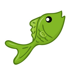 fish isolated vector image vector image