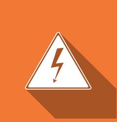 high voltage sign icon danger symbol warning vector image vector image