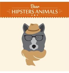 hipster bear in sweater and vector image