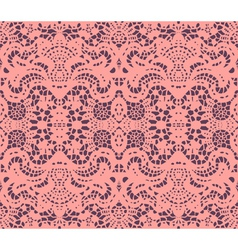 pink lace doily vector image vector image
