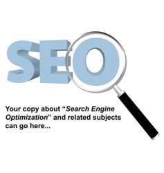 SEO search engine optimized logo vector image