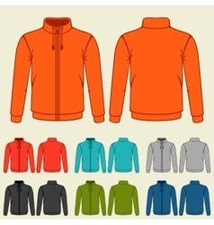 Set of colored sports jackets templates for men vector image vector image