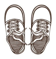 Skaters Shoes Top View vector image vector image
