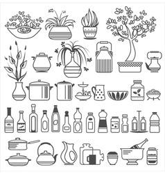 Kitchen tools and utensils vector