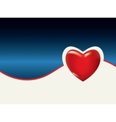Medical background with heart vector image