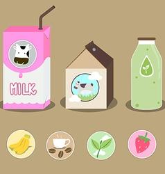 milk 2 vector image vector image