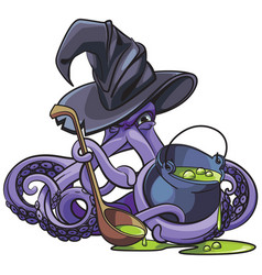 octopus the witch vector image vector image