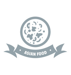 top asian food logo simple gray style vector image