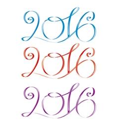 2016 blue red violet vector image