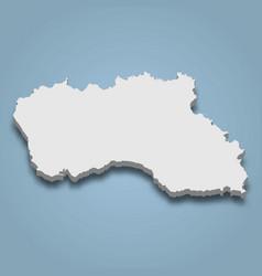 3d isometric map santa maria is an island vector