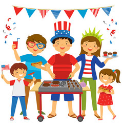 4th july bbq vector image