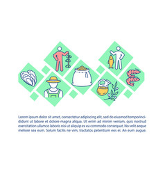 Agriculture and fishing concept icon with text vector