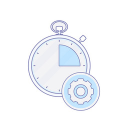 alarm clock hour minute process time timer icon vector image