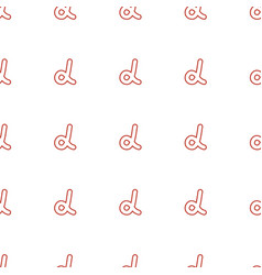 alpha icon pattern seamless white background vector image