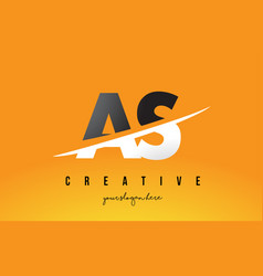 as a s letter modern logo design with yellow vector image