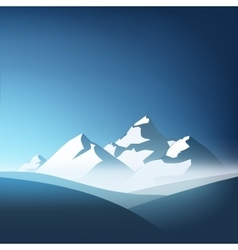 beautiful mountain landscape with blue sky on the vector image