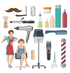 Beauty Salon Decorative Icons Set vector