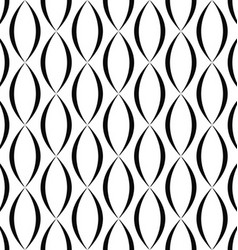 Black and white vertical curved shape pattern vector image