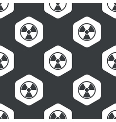 Black hexagon hazard pattern vector
