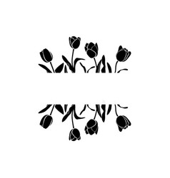 black tulips page decoration vector image